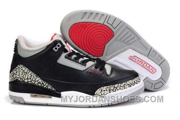http://www.myjordanshoes.com/air-jordan-3-black-grey-cement-wool-shoes-men-tjazn.html AIR JORDAN 3 BLACK GREY CEMENT WOOL SHOES MEN TJAZN Only $84.00 , Free Shipping!