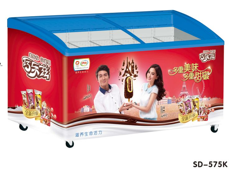 Sliding glass door ice cream chest display freezer display ice cream chest freezer