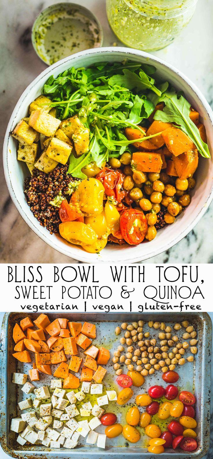 Bliss Bowl with Tofu, Sweet Potato, Quinoa & Cherry Tomatoes   Tiong Bahru Kitchen