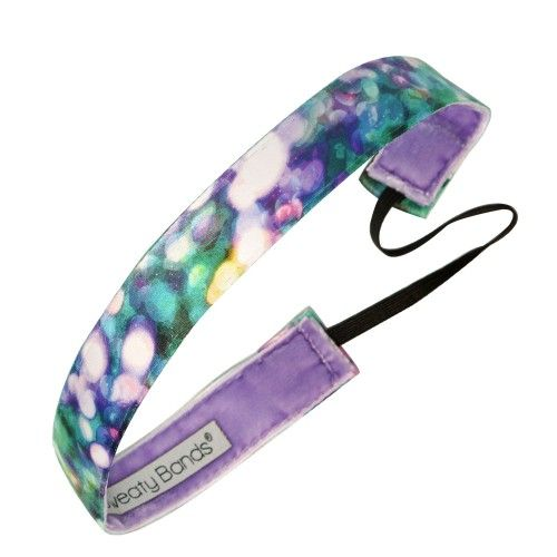 Fitness Stocking Fillers - Shine Green, Purple Fitness Headband from Sweaty Bands.