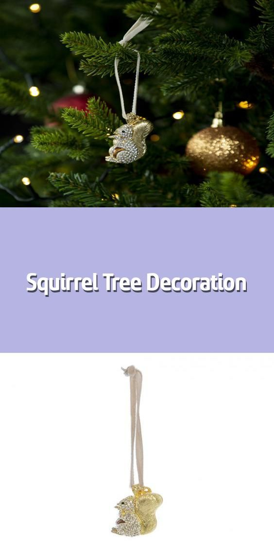 Squirrel Tree Decoration Christmas Tree Decoration Material Zinc Glass Acrylic Dimensions H5 In 2020 Tree Decorations Christmas Tree Decorations Christmas Bulbs