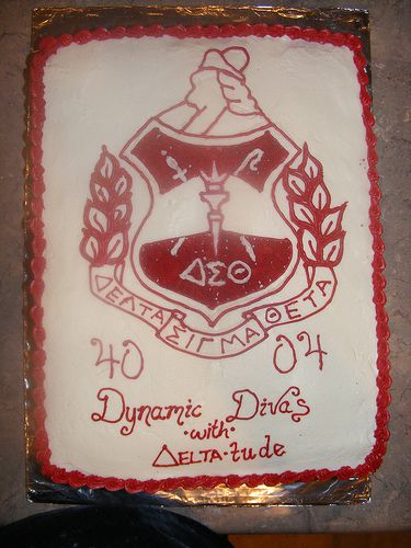 Delta Sigma Theta Graduation Cake