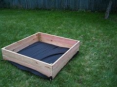 Easy DIY sandbox in reach for just about everyone