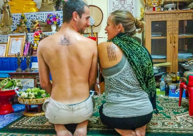 Interested in getting a Sak Yant tattoo in Thailand? We share everything you need to know about our personal experience getting magical Thai tattoos: