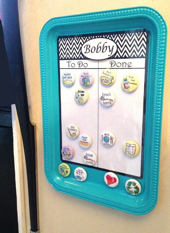 NEW chore chart magnetic upcycled chore board by SallySuesShop, $17.00