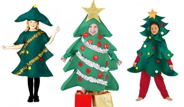 Disfraz casero para niños  Árbol de Navidad  c474aea2d80