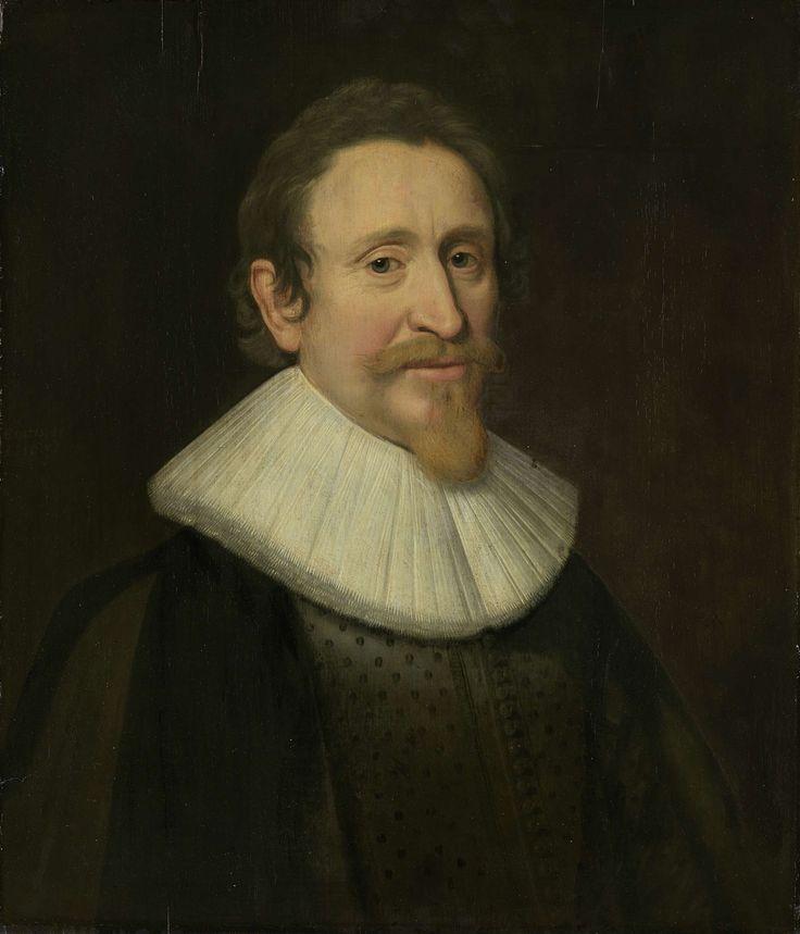 anoniem   Portrait of Hugo Grotius, Jurist, workshop of Michiel Jansz van Mierevelt, 1631   Portret van Hugo de Groot, rechtsgeleerde. Buste naar rechts.