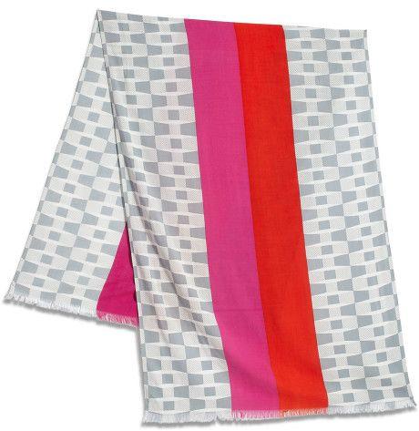 Kate Spade Bow Print Center Stripe Scarf in Multicolor (MULTI) - Lyst