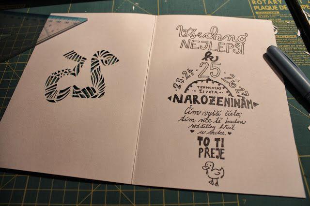 Retro Kačenka: {DIY} Narozeninové přání   Birthday card