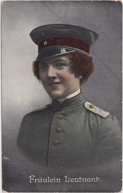 Fräulein Feldgrau (Erster Weltkrieg) Militaria Ansichtskarte 1916