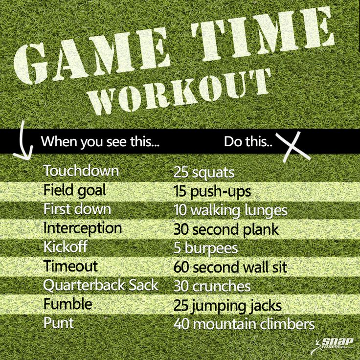 Game Time Workout - For all those football fans!