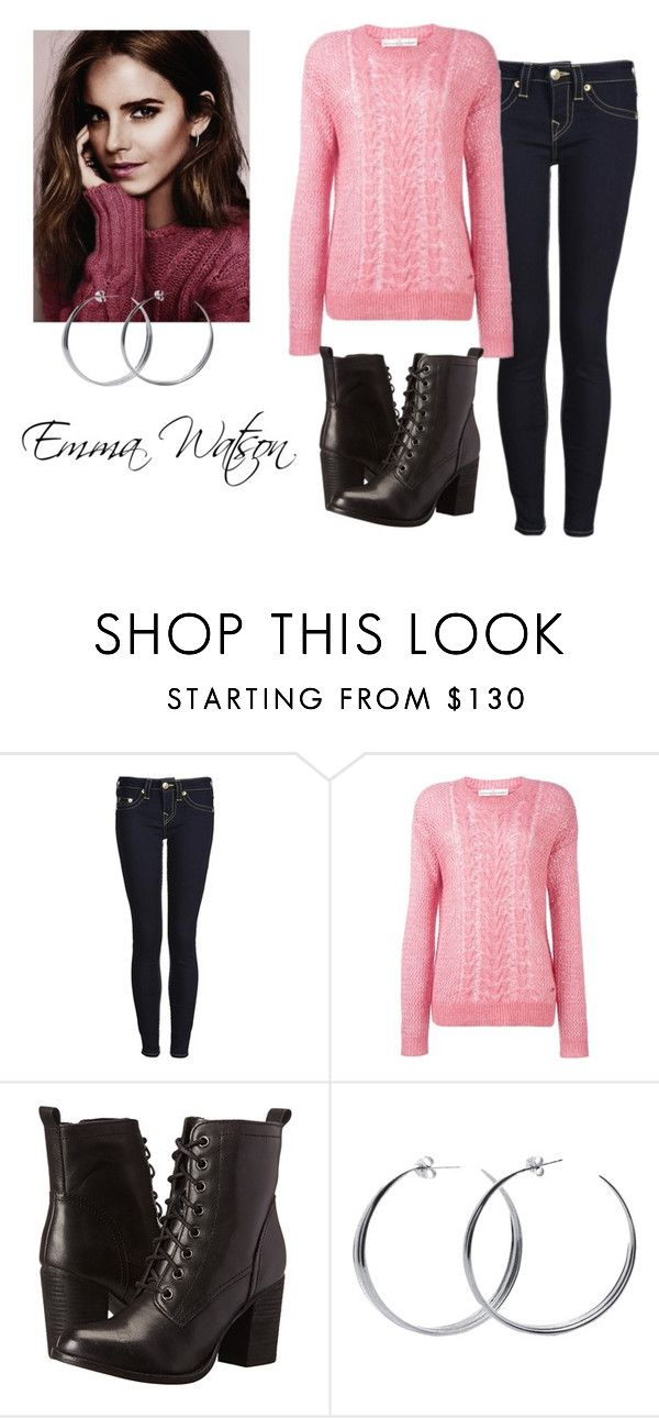 """""""Emma Watson"""" by amethyst-516 ❤ liked on Polyvore featuring Emma Watson, True Religion, Golden Goose, Steve Madden, Coco's Liberty, women's clothing, women, female, woman and misses"""