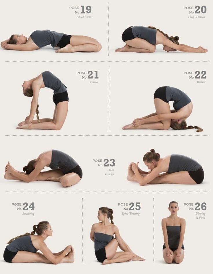 The 26 poses of Bikram