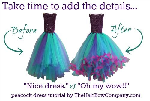 Beautiful DIY peacock tutu dress your daughter will love!