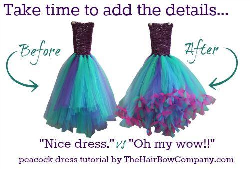 Beautiful DIY peacock tutu dress your daughter will love!