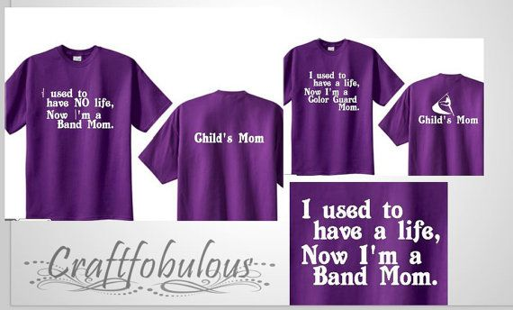 Men or women Band Mom/Dad/Brother/Sister/Colorguard/drumline shirt
