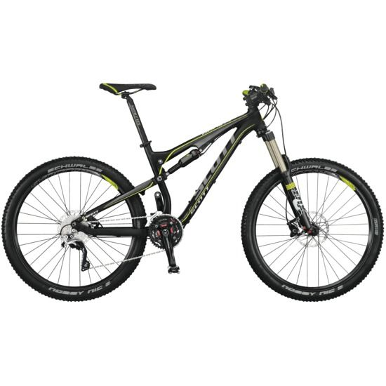 Scott Genius with front / rear lockout and remote travel adjust. An incredible (albeit, expensive) trail bike.