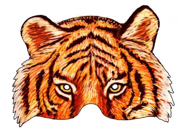 17 best images about printable mask on pinterest photo booth props zebra mask and tiger mask - Photo de tigre a imprimer ...