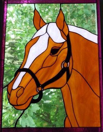 Modèle pour vitrail - Cheval (4)