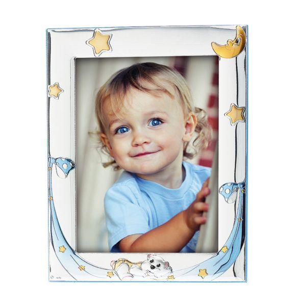 Κορνίζα παιδική Prince Silvero ασήμι 925