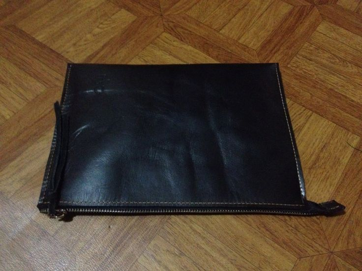 Leather document folder A5