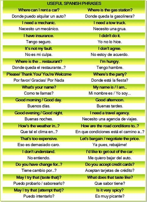 spanish food words for kids | Learn Spanish in Bolivia or Learn Before You Travel. Print Phrases and ... - follow my profile for more and visit my website