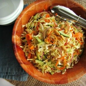 Peanut Cabbage Slaw - cabbage - red onion - small cucumber - carrot ...