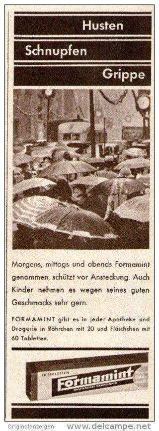 Original-Werbung/ Anzeige 1958 - FORMAMINT - ca. 60 x 170 mm