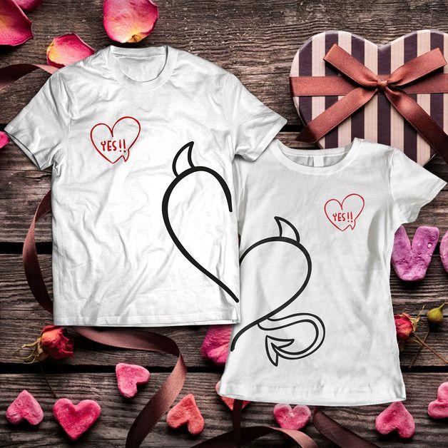 Zestaw dwóch koszulek dla pary diabełki - pablosport_pl - Prezenty na Walentynki #dawandawalentynki