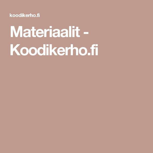 Materiaalit - Koodikerho.fi