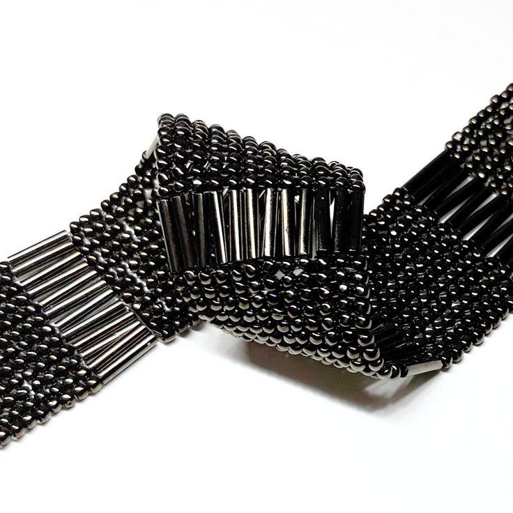 #toho #bugle #irisbrown #flatherringbone #bracelet