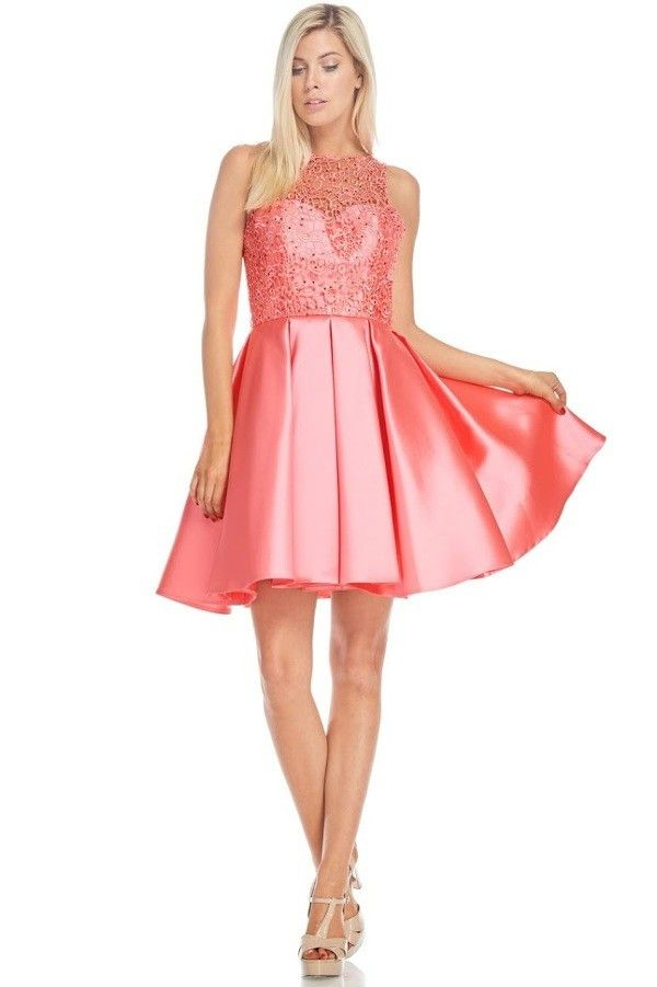 Lace bodice inexpensive homecoming dress BC#md1637s