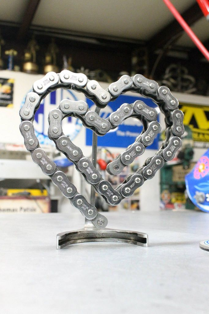 Chain Heart Scrap Metal Art Welding Art Projects