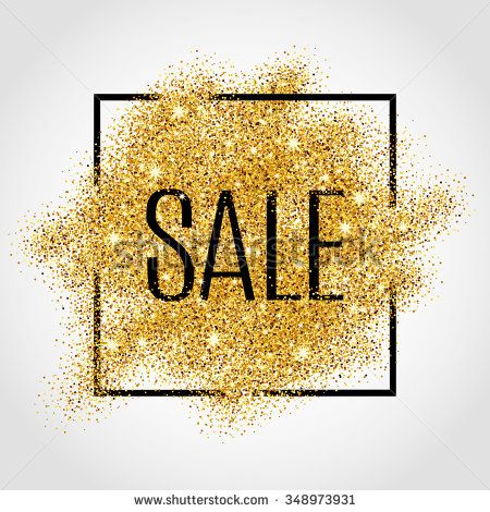 Gold sale background in frame. Gold sale background for flyer, poster, shopping, for sale sign, discount, marketing, selling, banner, web, header. Abstract golden background for text, type, quote.  - stock vector