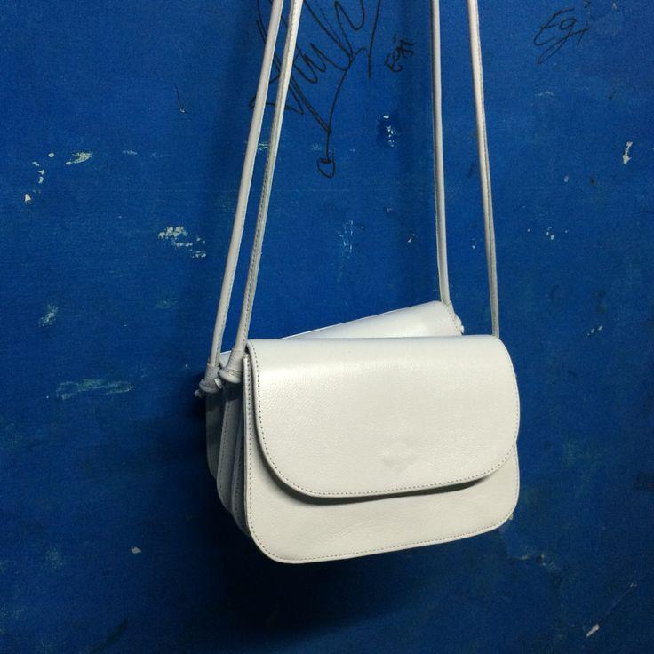White Slingbag Genuine Leather