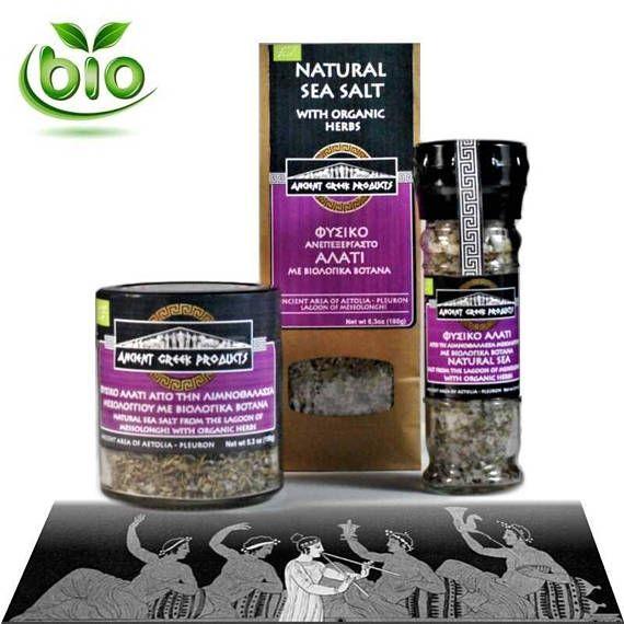 Natural sea salt of Messolonghi & Oregano Thyme Basil organic