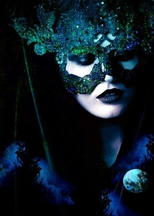 dark mysterious masks | Found on socialbliss.com