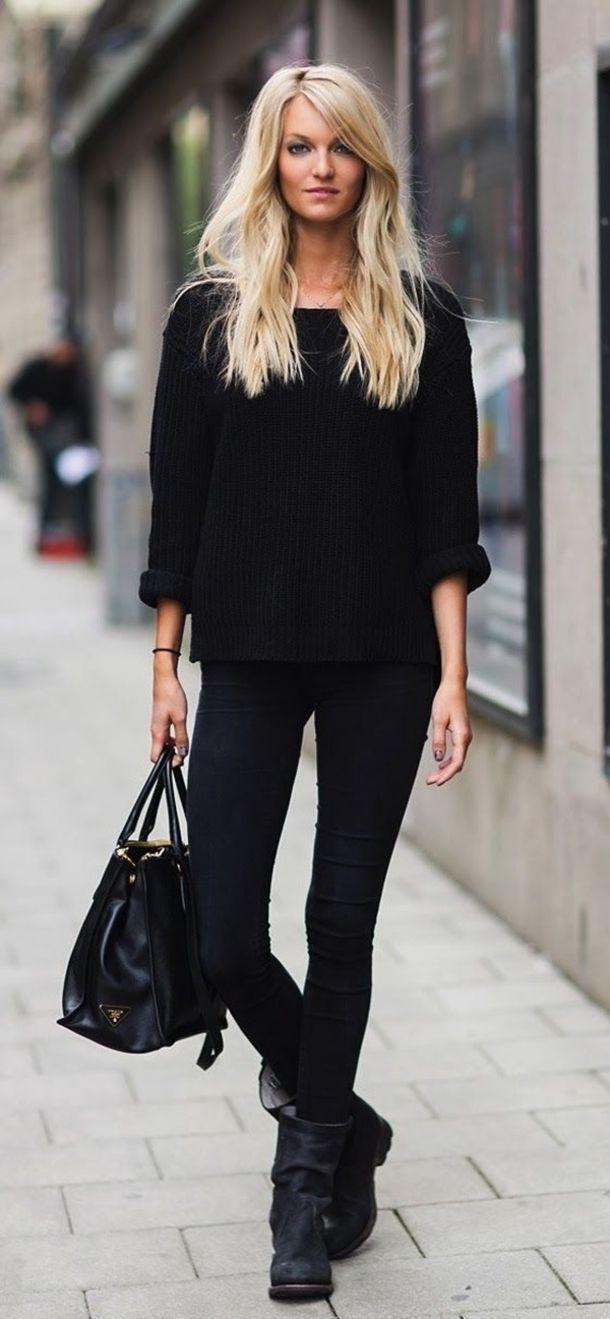 Модные черные джинсы скинни 2016