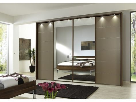 Nice Manhattan Sliding Wardrobe with Mirrors cm