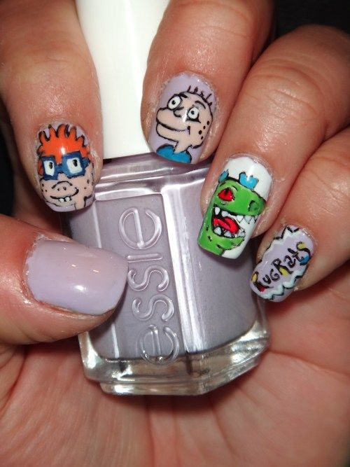 Bride Of Chucky Nail Design