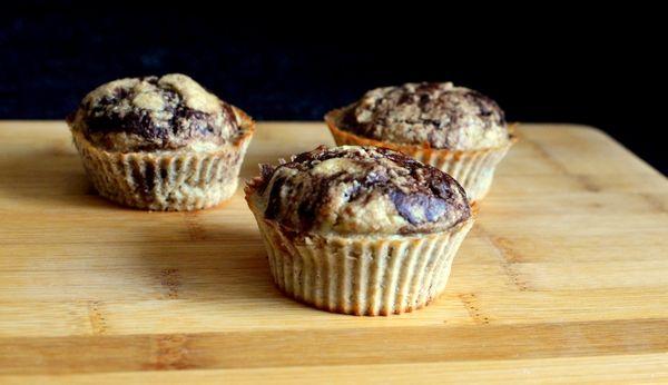 Sukkerfrie og saftige sjokolade- og bananmuffins