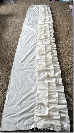 How to make a ruffle table cloth
