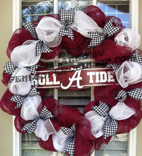 Alabama Crimson Tide Wreath on Etsy, $75.00