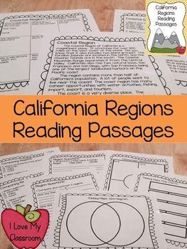 California Regions Reading Passages                                                                                                                                                                                 More