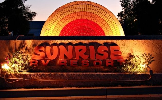 Sunrise RV Resort In Apache Junction Arizona Is A 55 Active Adult Community