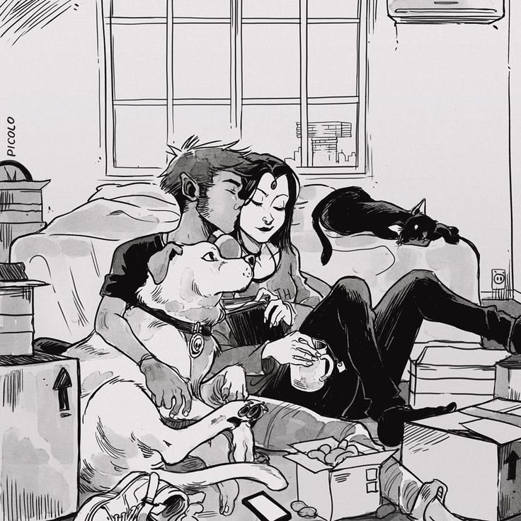 """When we move in together it's gonna be only you and me and the pets.""  #teentitans"