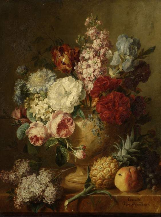 Vase of flowers by Cornelis van Spaendonck (1800s) Fitzwilliam Museum, Cambridge, England