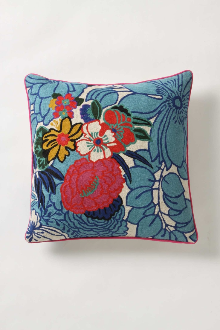 anthropologie cushion fabric yarn etc pinterest. Black Bedroom Furniture Sets. Home Design Ideas