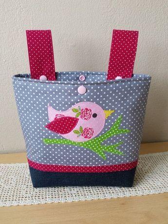 """Lenkertaschen - Lenkertasche, Laufradtasche, """"Vogel"""" - ein Designerstück von Lisa-Toews bei DaWanda"""