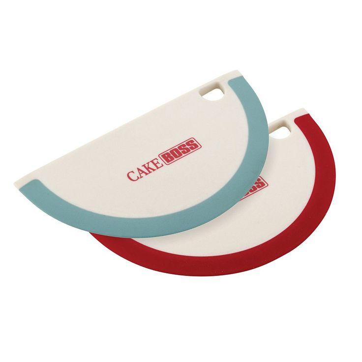Cake Boss Tools and Gadgets 2-pc. Silicone Bowl Scraper Set, Multicolor